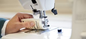 conductive cellulose yarn is used in a sewing machine